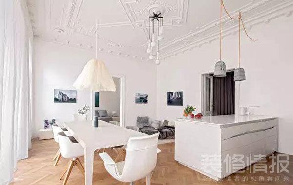 纯白色公寓装修效果图欣赏,装饰优雅考究!1.jpg