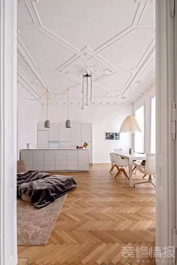 纯白色公寓装修效果图欣赏,装饰优雅考究!2.jpg