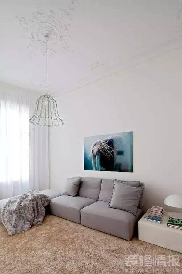 纯白色公寓装修效果图欣赏,装饰优雅考究!3.jpg