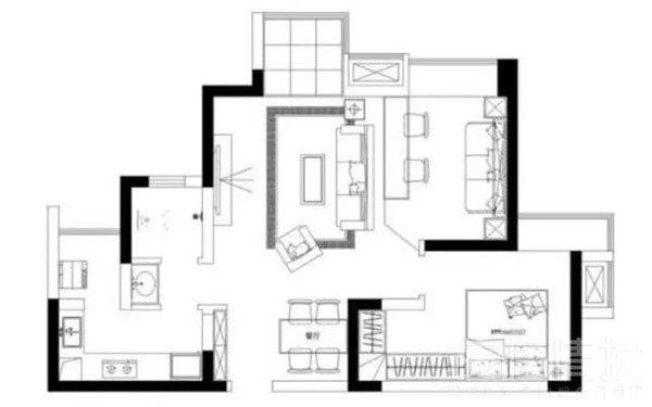 60㎡北欧两居装修效果图15.jpg